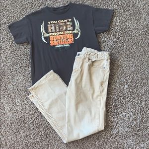 Hunting Skills T-Shirt/Jeans Outfit, Large/12Husky